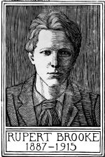 wood-engraving of Portrait of Rupert Brooke 2 (Giclée only)